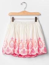 bright eyelet flippy skirt
