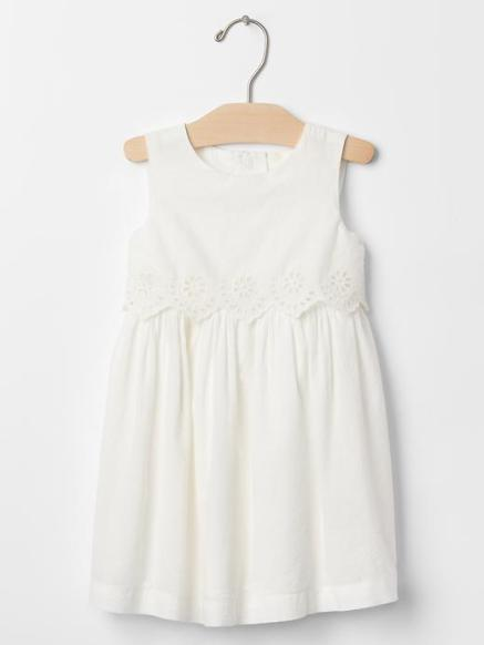 toddler eyelet two tier dress